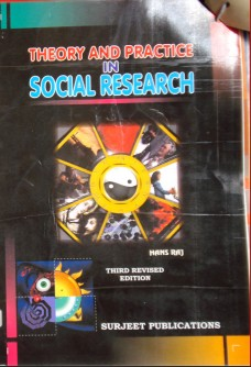 THEORY AND PRACTICE IN SOCIAL RESEARCH