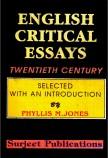ENGLISH CRITICAL ESSAYS (TWENTIETH CENTURY)